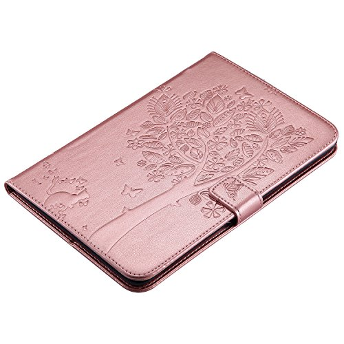Apple Slim Sleep Case Smart Mini 4 series Tree iPad Stand For BONROY® Built 4 iPad Cat iPad Apple shell Mini Cover and Case Mini Smart pattern rose in Auto gold tree Wake 4 Ultra Cats and Tzzpx