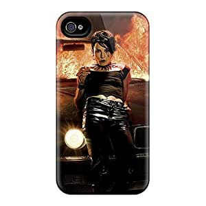 Case Cover Brunette Smoking On Car On Fire/ Fashionable Case For Iphone 4/4s