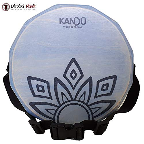 KTÄK -The First Handcrafted, Hand Drum Percussion, Two-Sound Cajón Body Snare, Portable Cajon by Kandu (Summer Sky Blue)