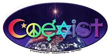 amazon com coexist with rainbow lettering window sticker decal