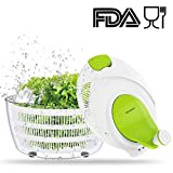 Salad Spinner Dryer, LOVKITCHEN Cooking Grips Salad Spinner - Large Capacity,BPA Free Certified, Easy Spin for Tastier Salads & Dishwasher Safe