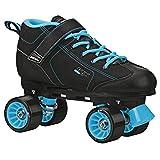 GTX-500 Black and Teal Roller Skates (Mens 8/Ladies 9)