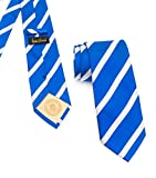 Donald J. Trump Signature Blue Striped Neck Tie with Presidential Seal