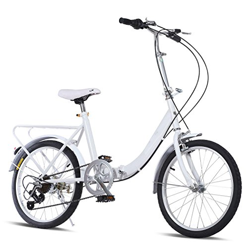 20-Inch Folding Bike,7 speed with Hybrid Suspension Loop for City school (w)