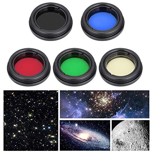 Telescopio Lente ocular Juego de filtros,lentes de aleacion de aluminio profesional Filtro de color Conjunto Accesorios de telescopio para Telescopio de 1,25 pulgadas/31,7 mm para Moonlight Planet