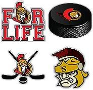 "Senators Hockey - Ottawa Set of 4 Car Bumper Stickers Decals 5"" Longer"