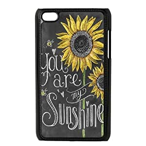 Lycase(TM) Sunflower Customized Cover Case, Sunflower Ipod Touch 4 Protective Case