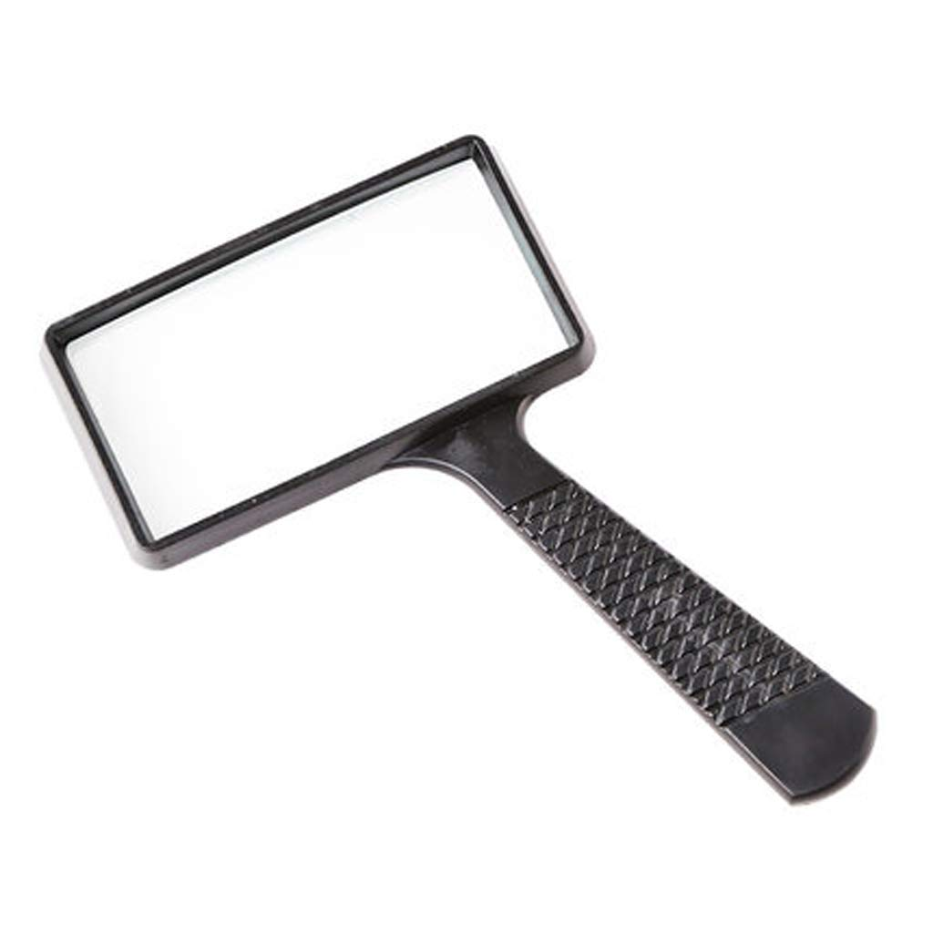 NYDZ Reading Magnifier - 10x Reading HD Rectangular Handheld Reading Magnifier Old Student Portable Ergonomics Magnifying Glass Suitable for Books Newspaper Maps Coins Jewels Hobbies NYDZ shop