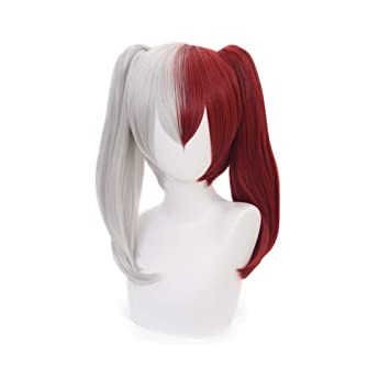 Yamia Anime Cosplay Wig For My Hero Academia Shoto Todoroki Cosplay Wigs With Free Wig Cap Half