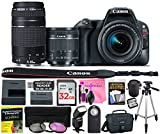 Canon EOS Rebel SL2 24.2 MP DSLR Camera (Wi-Fi) Body, Canon EF-S 18-55mm 4-5.6 IS STM Lens, Canon EF 75-300mm 4-5.6 III Lens with Deluxe Camera Works Accessory Bundle & 32GB High-Speed Memory Card Review