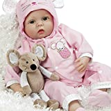Paradise Galleries Real Life Great to Reborn Baby Doll, Mia Mouse, Girl Doll Crafted in Silicone-Like Vinyl and Weighted Body, 21 inch
