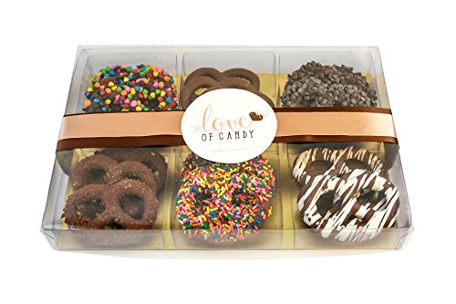 Love of Candy Gourmet Chocolate Covered Pretzel Gift Box, Milk Chocolate - Small