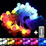 5M 50LED Remote Battery Globe Outdoor String Light for Christmas Wedding Party Holiday Decor (Random: Color)