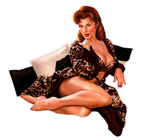 red-head-with-leopard-outfit-pin-up-girl-decal-6-free-shipping-in-the-united-states