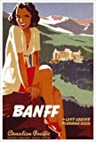 Banff , Lake Louise in the Canadian Rockies (Canadian Pacific) Vintage Art Poster Print