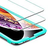 ESR [2-Pack] Screen Protector for iPhone Xs/iPhone X, iPhone iPhone Xs/iPhone X Tempered Glass Screen Protector [Force Resistant Up to 22 Pounds] Case Friendly for iPhone 5.8 inch(2017&2018 Release)