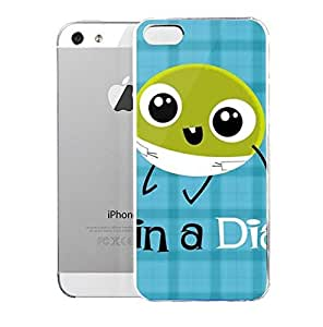 Light weight with strong PC plastic case for iPhone iphone 6 4.7 Lifestyle Fun & Witty Pea In A Diaper