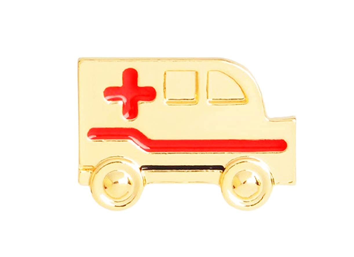 Amazon.com: Broche de ambulancia, chapado en oro, con ...