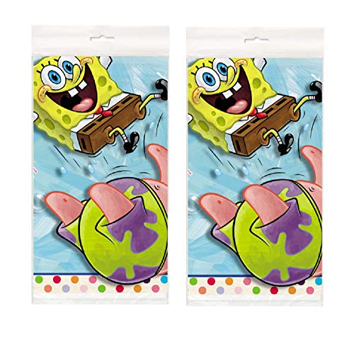 Spongebob 84 x 54 Party Plastic Tablecover - 2 Pack ()