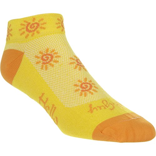 SockGuy Classic Sunshine Womens Socks, cuff height 1