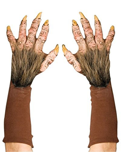 Zagone Beast Gloves, Brown Faux Fur, Yellow Nails, Gloves]()