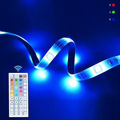 LED Color Changing Strip Light Kit RGB Dimmable String Lighting 32.8Ft 300LEDs SMD5050 DC12V wit ...