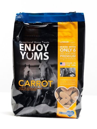 Enjoy Yums Horse Treats, Carrot Flavor, 1 Pound Bag by Enjoy Yums
