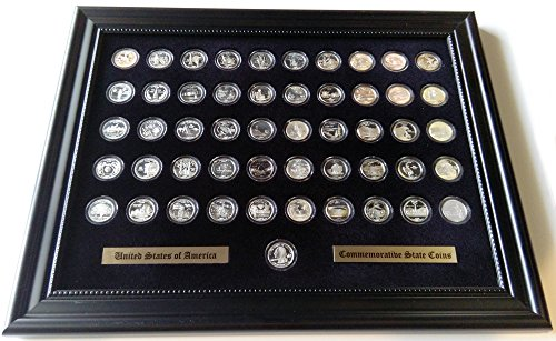 Black Display Frame for the 50 State Quarters (Not Included)