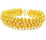 Pikun Flower Lai Thai Gold Plated Bangle 22k 24k Thai Baht Yellow Gold Filled Bracelet