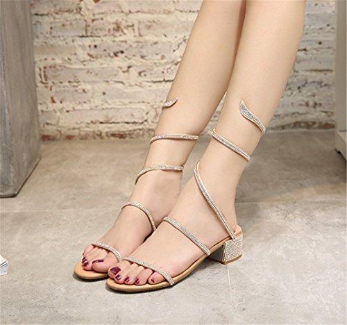 Femmes Élégant Talon Haut Chaussures Sexy Sandales à Lanières Fête Chaussures Blanc oN4HtsQi