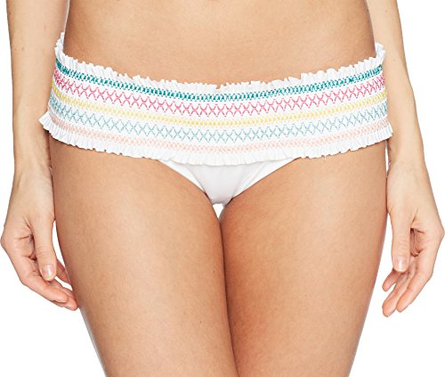 Isabella Rose Women's Crystal Cove Banded Hipster Bottom White M