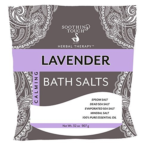 Soothing Salts - Soothing Touch Lavender Bath Salt, 32 Ounce - 3 per case.
