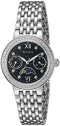 Bulova Women's Quartz Stainless Steel Dress Watch, Color:Silver-Toned (Model: 96R210)