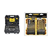 DEWALT Mechanics Tools Kit and Socket Set, 108-Piece (DWMT73801) & Titanium Drill Bit Set, Pilot Point, 21-Piece (DW1361)