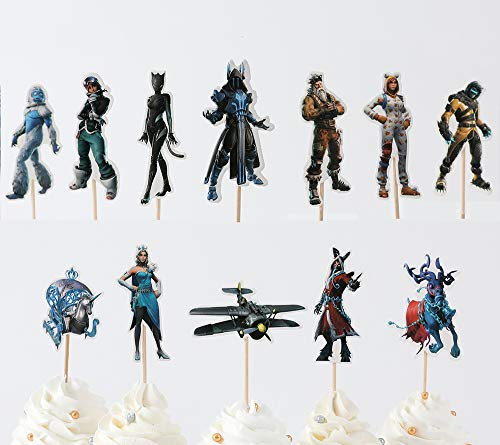 SUYEPER S7 Cupcake Toppers Cake Decor (24PCS)