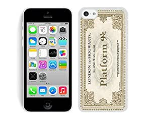 Classical TPU Phone Case for Iphone 5c Hogwarts Express Train Ticket Cell Phone Protective Soft Silicone White Cover Accessories