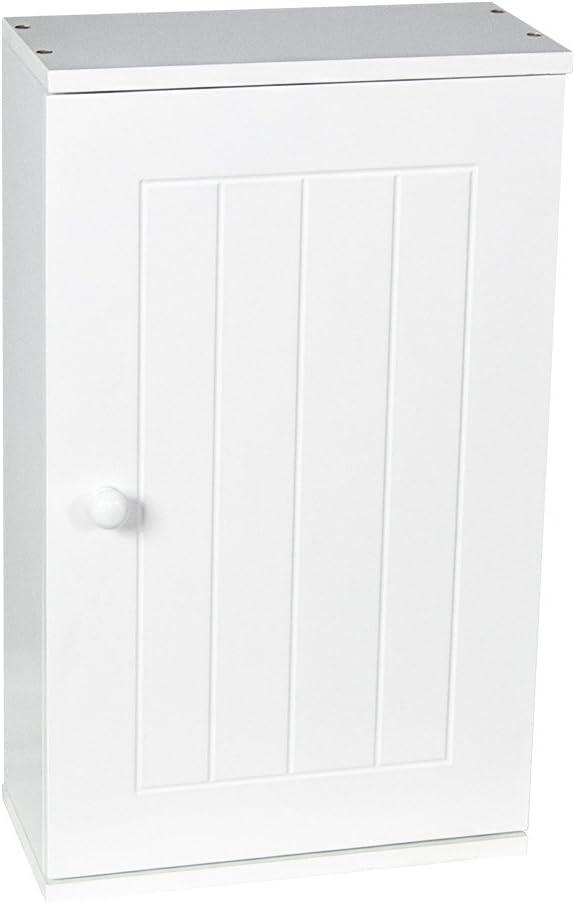 Bath Vida Priano Bathroom Cabinet Single Wall Mounted Storage Cupboard Shelf, White
