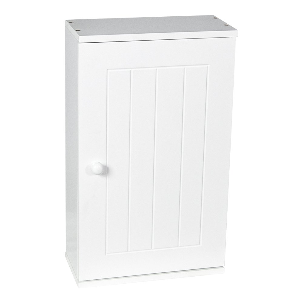 Home Discount Priano Bathroom Cabinet Single Wall Mounted Storage Cupboard Shelf, White