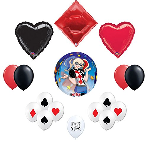 Dc Super Hero Girls Harley Quinn Balloon Decorating Kit (Kids Harley Quinn Mallet)