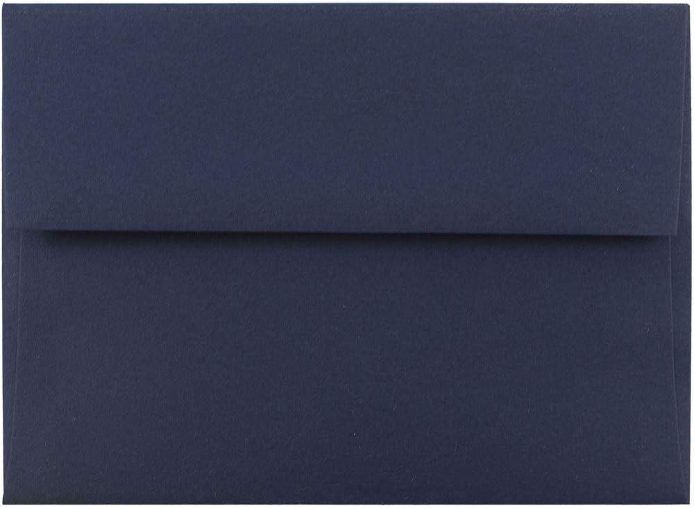 Blu Acqua 92,1 x 130,2 mm 50//Confezione JAM PAPER Lettere per Inviti Piccolo