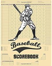 Baseball Scorebook: 120 Pages Baseball Score Sheet, Baseball Scorekeeper Book, Baseball Scorecard,Baseball scorekeeping,scorecards,8.5x11 inch