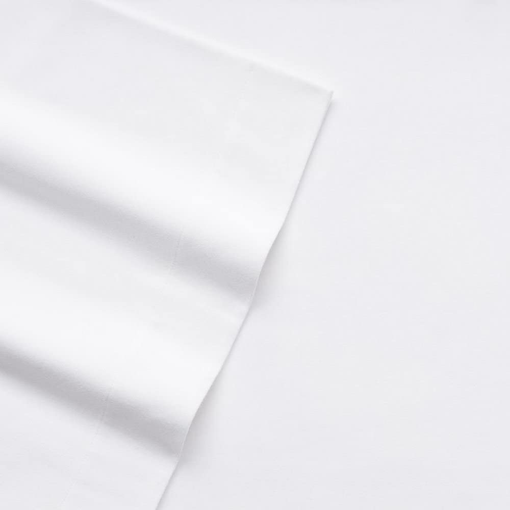 Cuddl Duds Queen Flannel Sheet with Deep Pockets, 4-Pieces - White