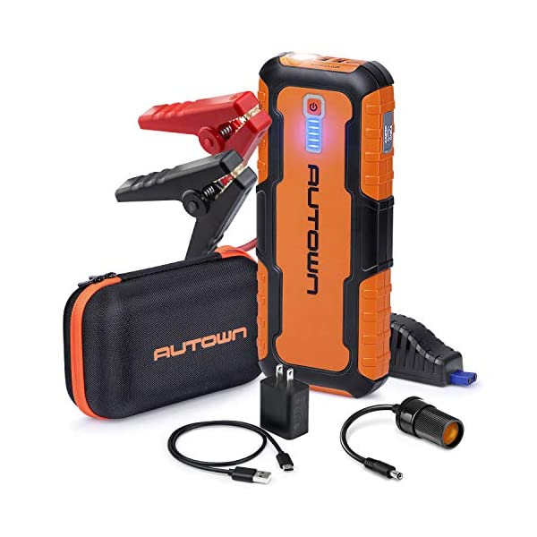 AUTOWN Car Jump Starter – 21000mAh 1000A Peak, 12V Auto Battery Booster with...