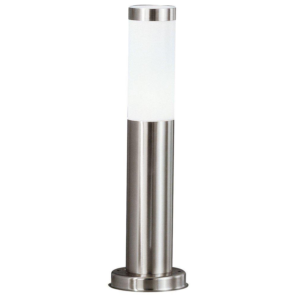 LED Edelstahl Steh Lampe Garten Weg Auß en Beleuchtung Terrassen Stand Leuchte silber Globo 9007371291328