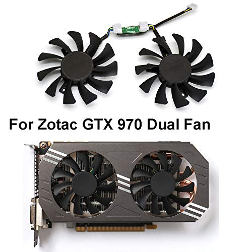 inRobert 75mm GA81S2U DC 12V 0.38A 4Pin Cooler Fan Video Card Fan Replacement for Zotac GTX 970 Dual Fan Graphic Card (Original Fan)
