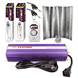 Apollo Horticulture GLK1000GW19 1000 Watt Grow Light Digital Dimmable HPS MH System for Plants Gull Wing Hood Set