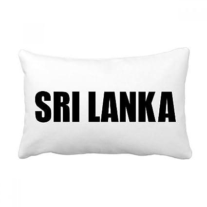 Amazon Com Diythinker Sri Lanka Country Name Black Throw Lumbar