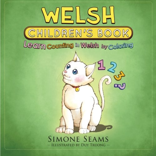 Welsh Children's Book: Learn Counting in Welsh by Coloring
