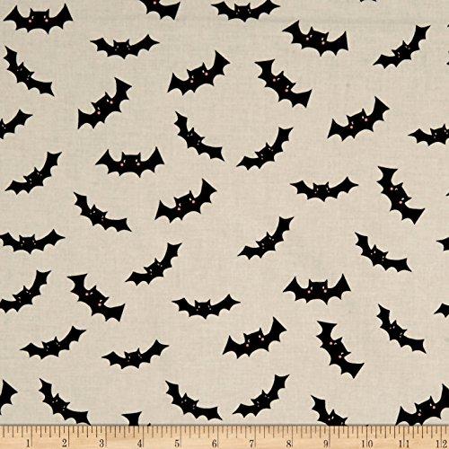 Riley Blake Designs Cats Jacks Bats Cream Fabric