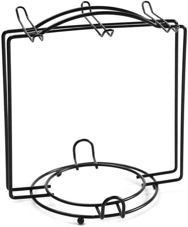Tea Cups and saucer Display Rack Stand Teacup Holder Stainless Steel Wire Rack Service for Tea Cups,Bracket,Cups Dishes,Metal stand for coffee cups and saucers (Black)